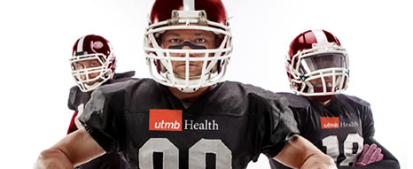 UTMB Saturday Sports Clinic football players
