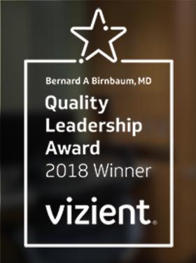 2018 logo for Vizient Award